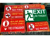Bảng mica cấm lửa cấm hút thuốc PCCC