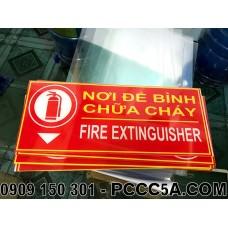 Bảng mica vị trí nơi đặt bình chữa cháy