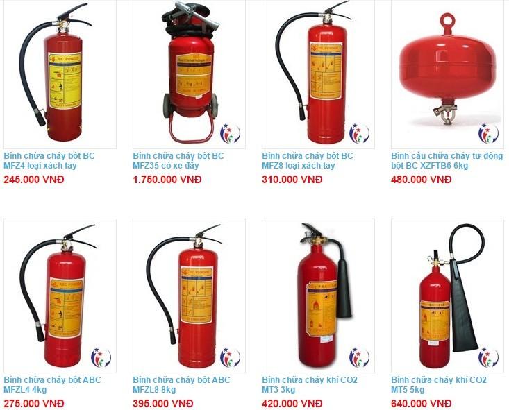 Cơ sở bán bình chữa cháy chất lượng giá rẻ giao hàng tận nơi miễn phí tại khu vực TpHCM và Bình Dương 1