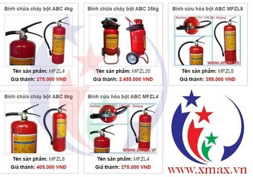 Giá bán các loại bình chữa cháy cứu hỏa cùng các thiết bị hệ thống phòng cháy chữa cháy phân phối tại TPHCM 2