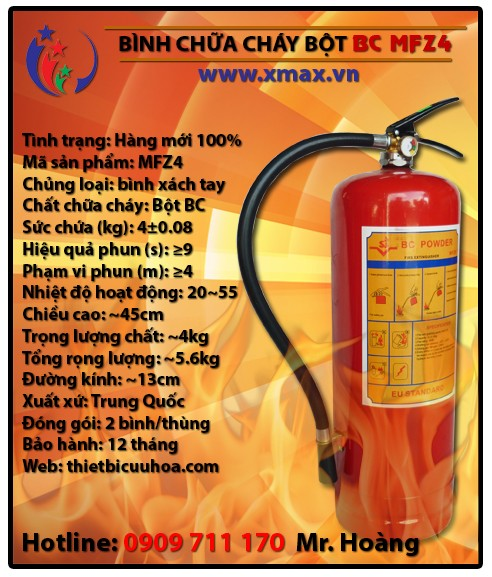 Một vài phương pháp giúp phân biệt thành phần và công dụng của từng loại bình cứu hỏa 2014 phần 6