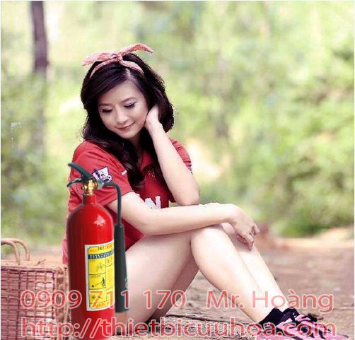 Giá bán bình chữa cháy co2 3kg mt3 xách tay loại nhỏ