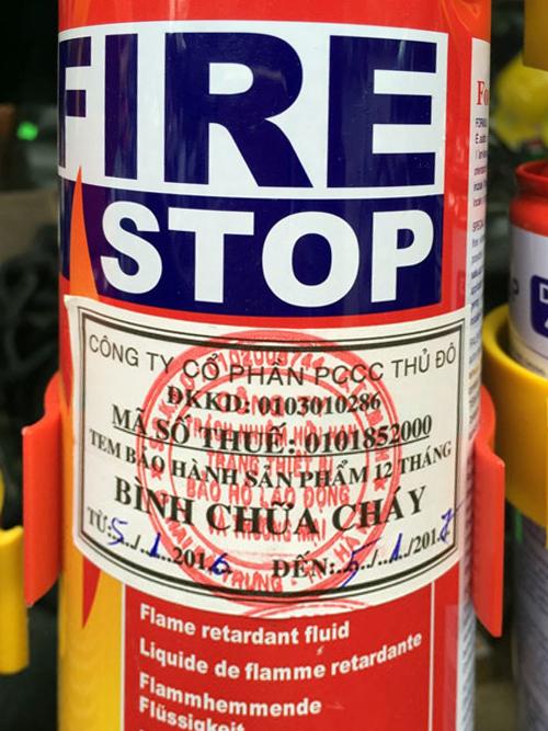 Bán bình chữa cháy mini cho ô tô xe tải giá rẻ - Bảng báo giá 2016 ảnh 3