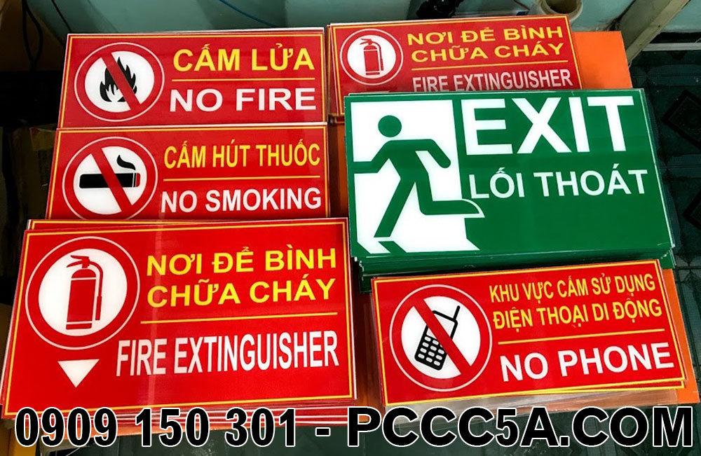 bảng mica pccc