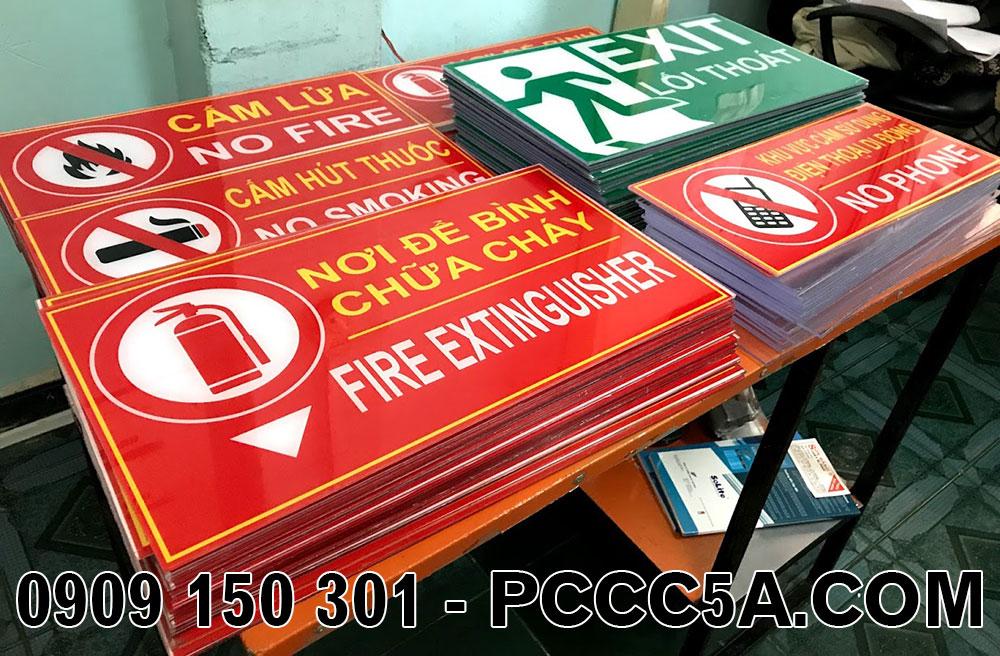 bảng mica tiêu lệnh hữa cháy