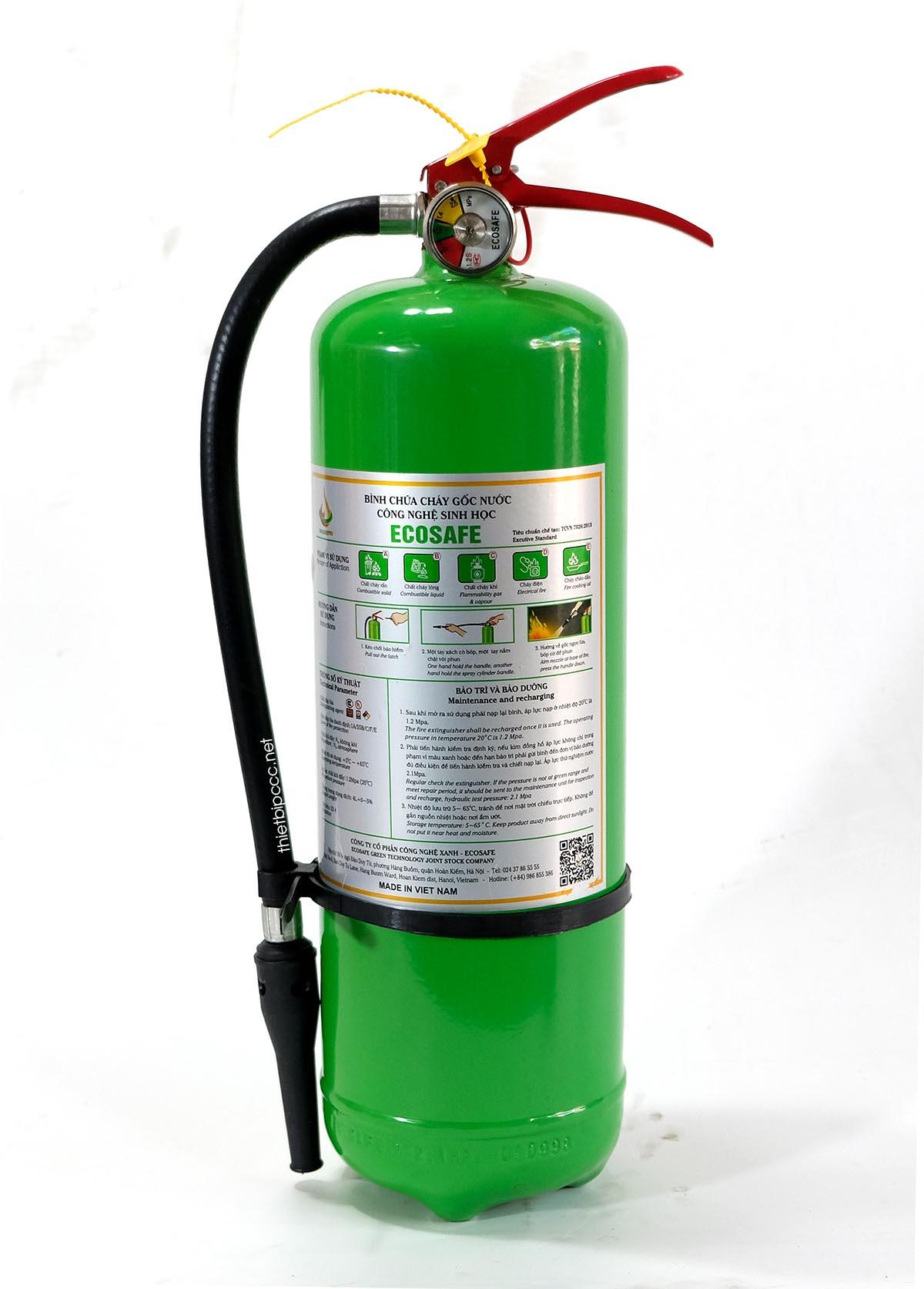 bình chữa cháy gốc nước Ecosafe Việt Nam