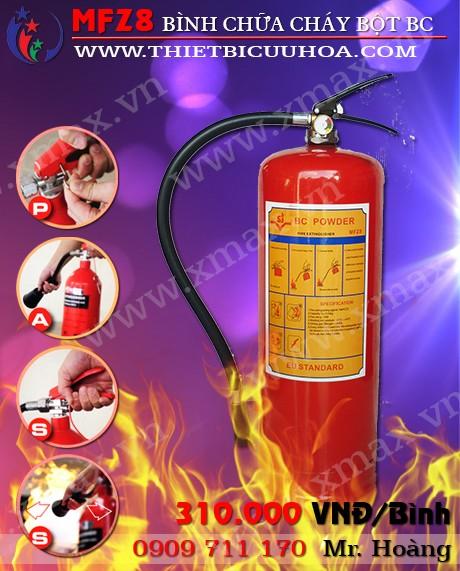 Cung cấp bình bột chữa cháy BC MFZ8-8kg loại xách tay gọn nhẹ bảo hành 12 tháng giao hàng miễn phí 1