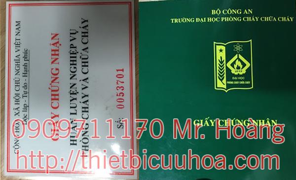 Chứng chỉ tem kiểm định bình chữa cháy COCQ theo quy định PCCC 5