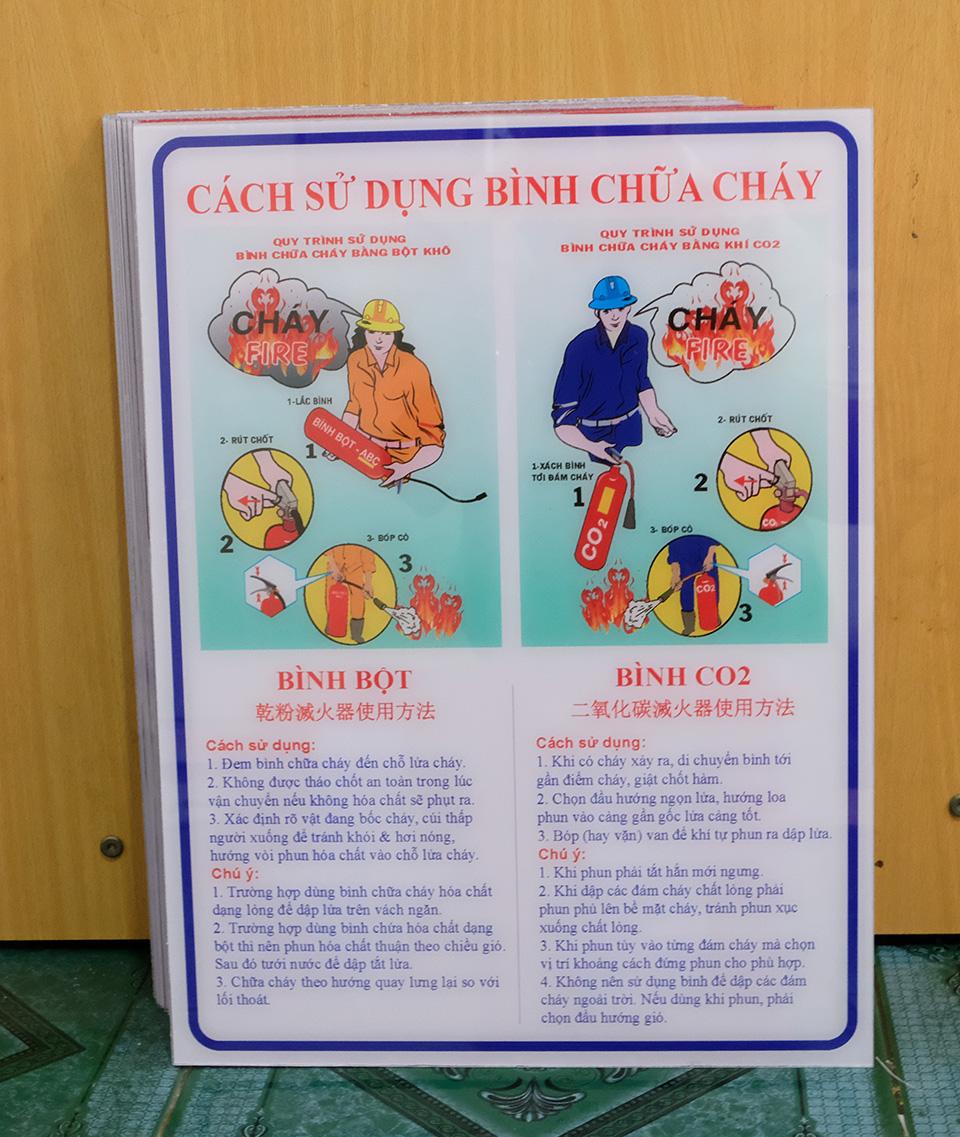bảng hướng dẫn sử dụng bình chữa cháy bằng nhựa mcia
