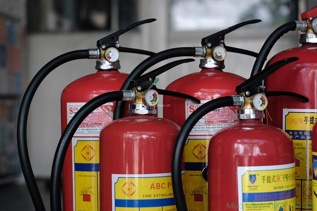 quy định bao nhiều m2 1 bình chữa cháy thì an toàn